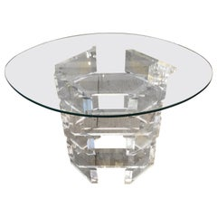 Glitzy Mid-Century Modern Lucite Side Table