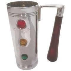 Glo-Hill Jigger, Chrome Traffic Light Design with Cherry Red Bakelite Handle