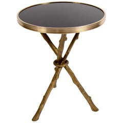 Global Views Brass and Granite Twig Table