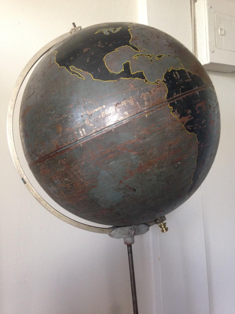 American Globe by Denoyer Geppert Used for Military Aviation Training, circa 1920s