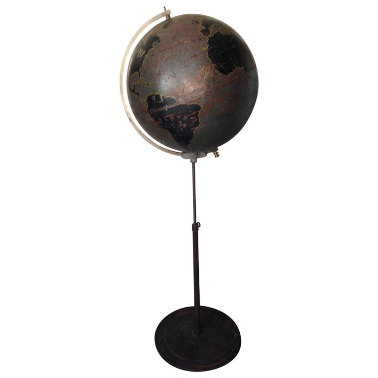 Globe by Denoyer Geppert Used for Military Aviation Training, circa 1920s