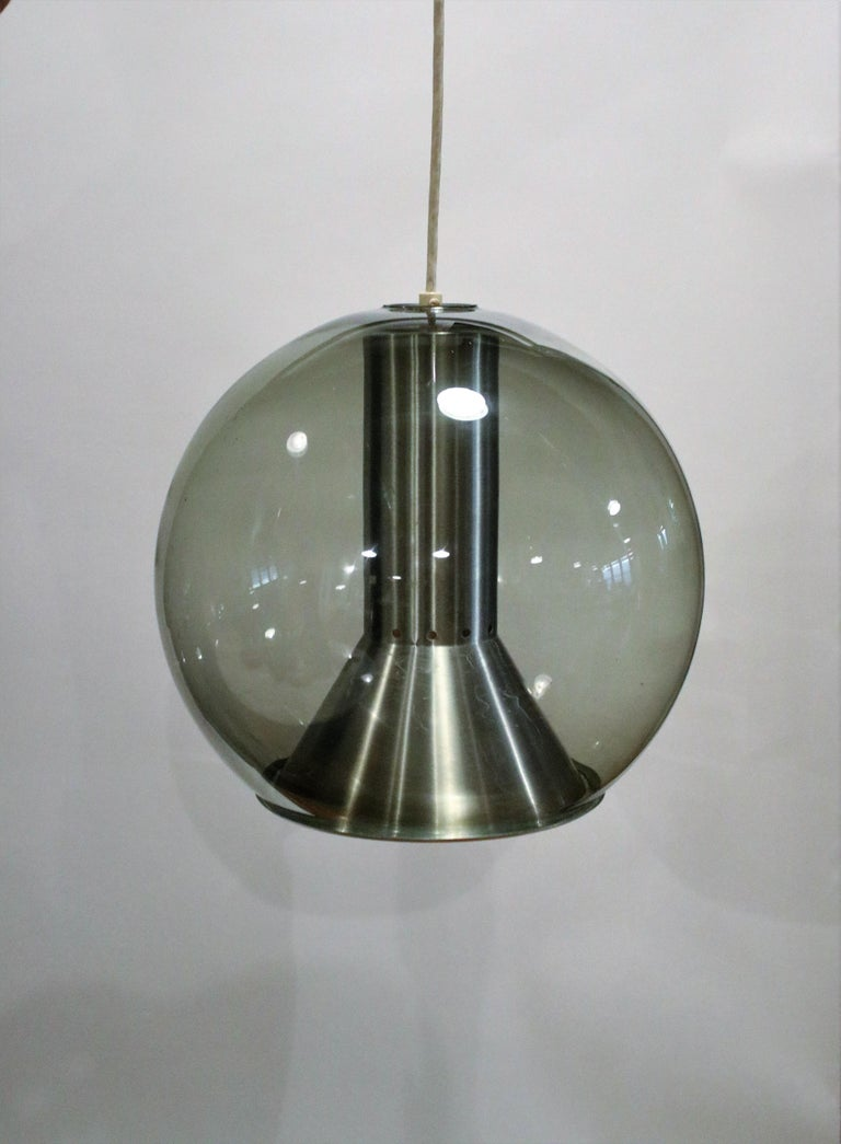 Mid-Century Modern Globe Ceiling Lamp by Franck Ligtelijn for RAAK For Sale