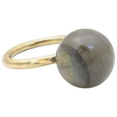 Jacqueline Rose Globe Labradorite Ring