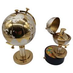 Globe Lighter and Cigarette Holder, Metal