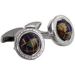 Globe Mosaic Cufflinks