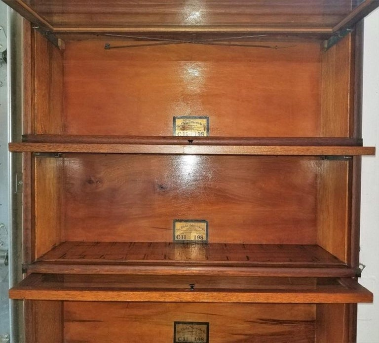 American Craftsman Globe Wernicke 5 Stack Barristers Bookcase For Sale
