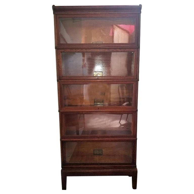 Globe Wernicke 5 Stack Barristers Bookcase For Sale