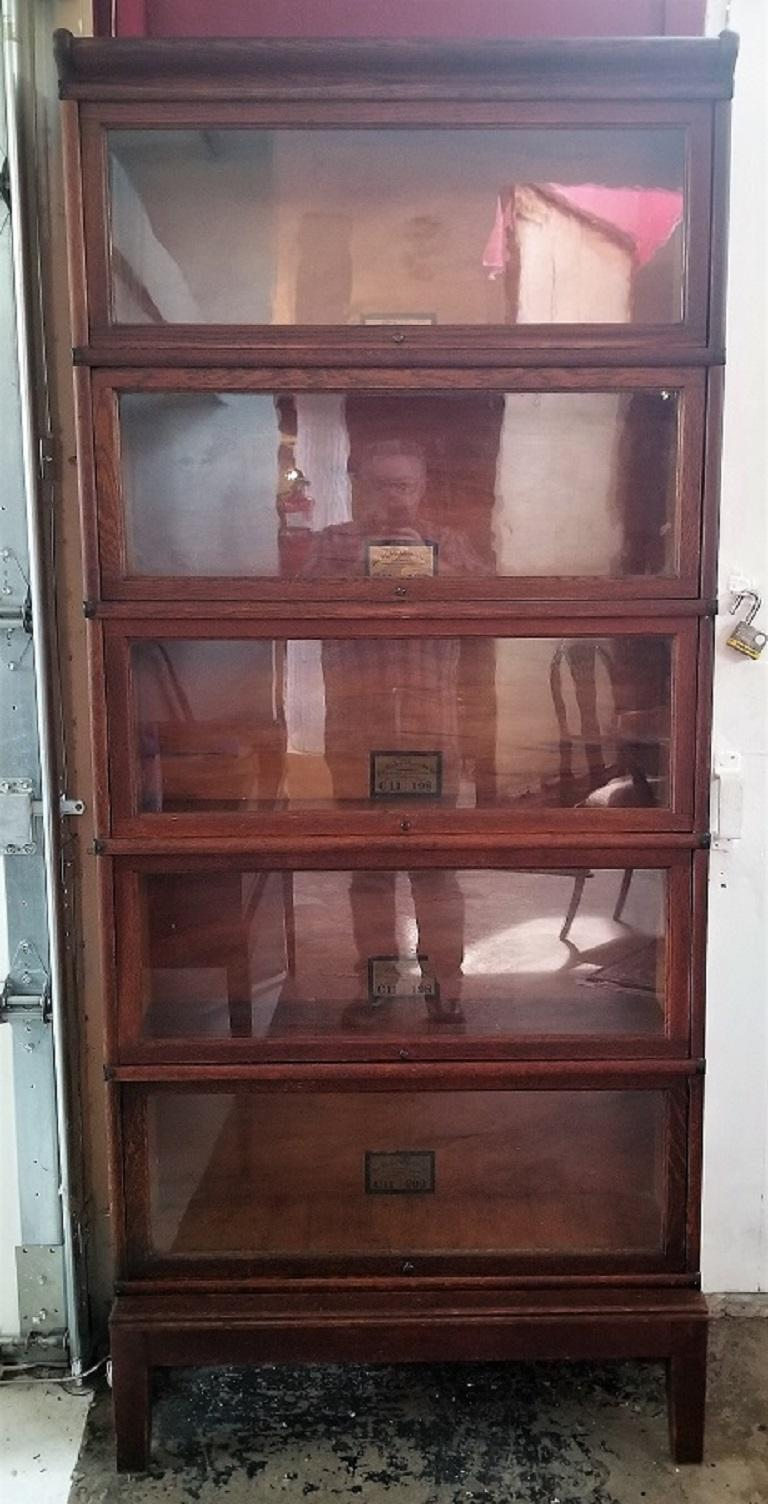 Globe Wernicke 5 Stack Barristers Bookcase For Sale 1