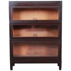 Globe-Wernicke Antique Mahogany Three-Stack Barrister Bookcase