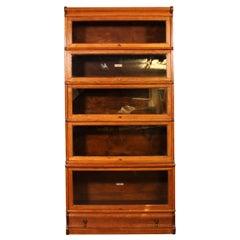Globe Wernicke Bookcase Called Stacking Bookcase in Oak, 5 Items