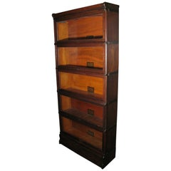 Globe Wernicke Oak Stacking Barrister Bookcase 7 Sections