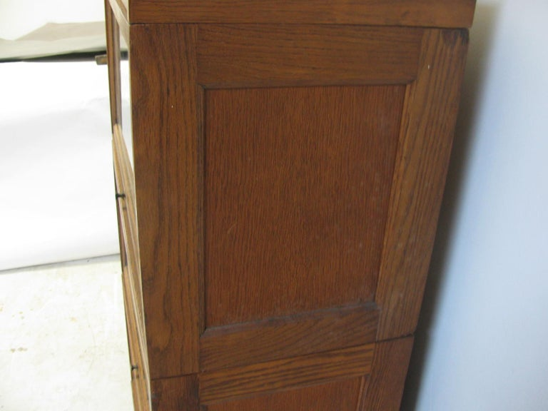 American Globe Wernicke Oak Stacking Barrister Five Section Bookcase, circa 1920 For Sale