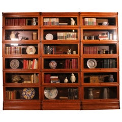 Globe Wernicke Wall in Oak Composed of 3 Bookcases of 6 Trier
