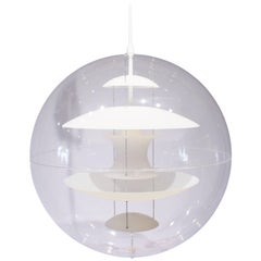 Globe with Opaline Glass, Designed by Verner Panton