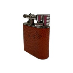 Globetrotter Leather Wrapped Sports Lift Arm Lighter by Dunhill
