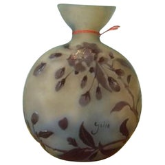 Globular Cameo Vase by Emile Gallé
