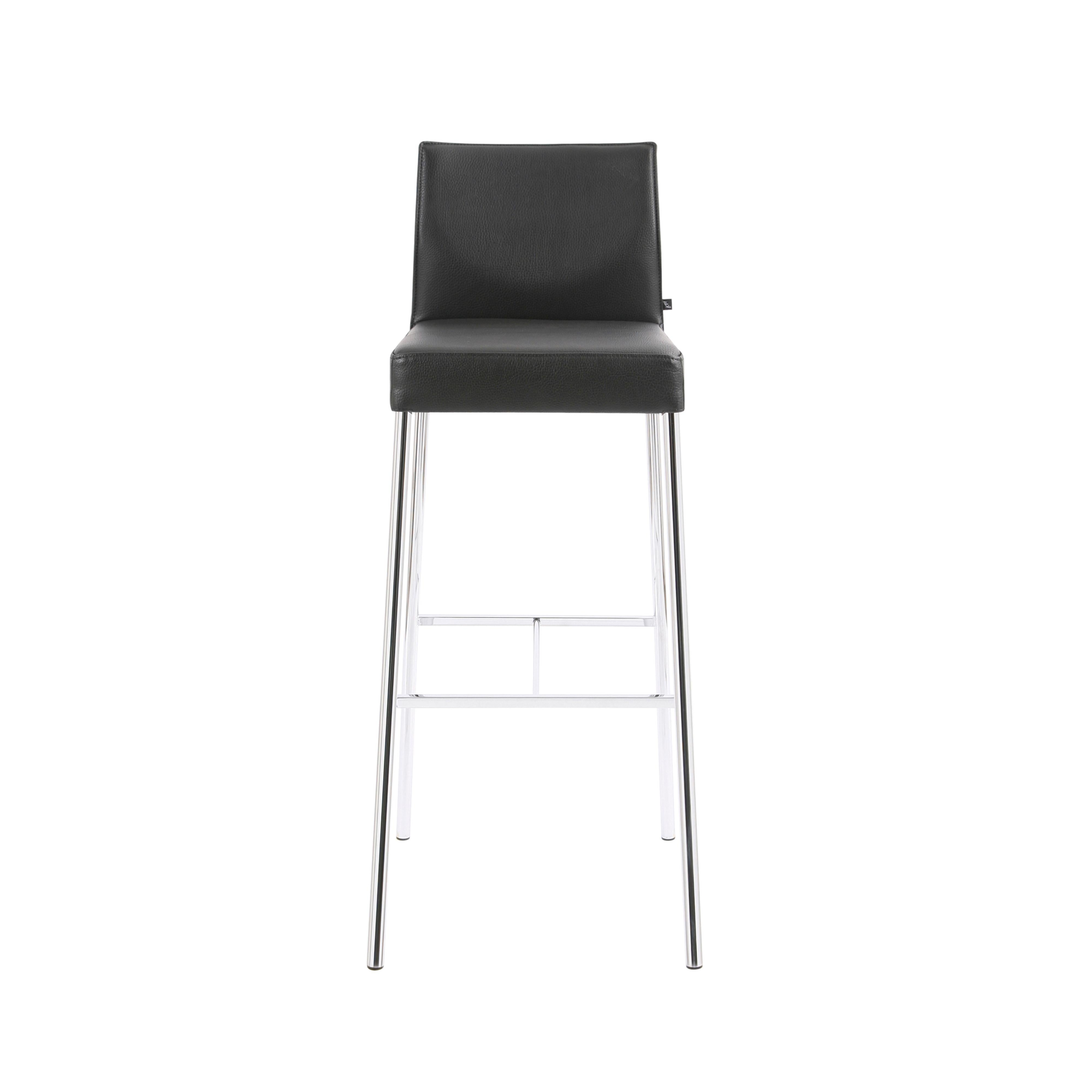 GLOOH Bar Stool in Black Leather by KFF