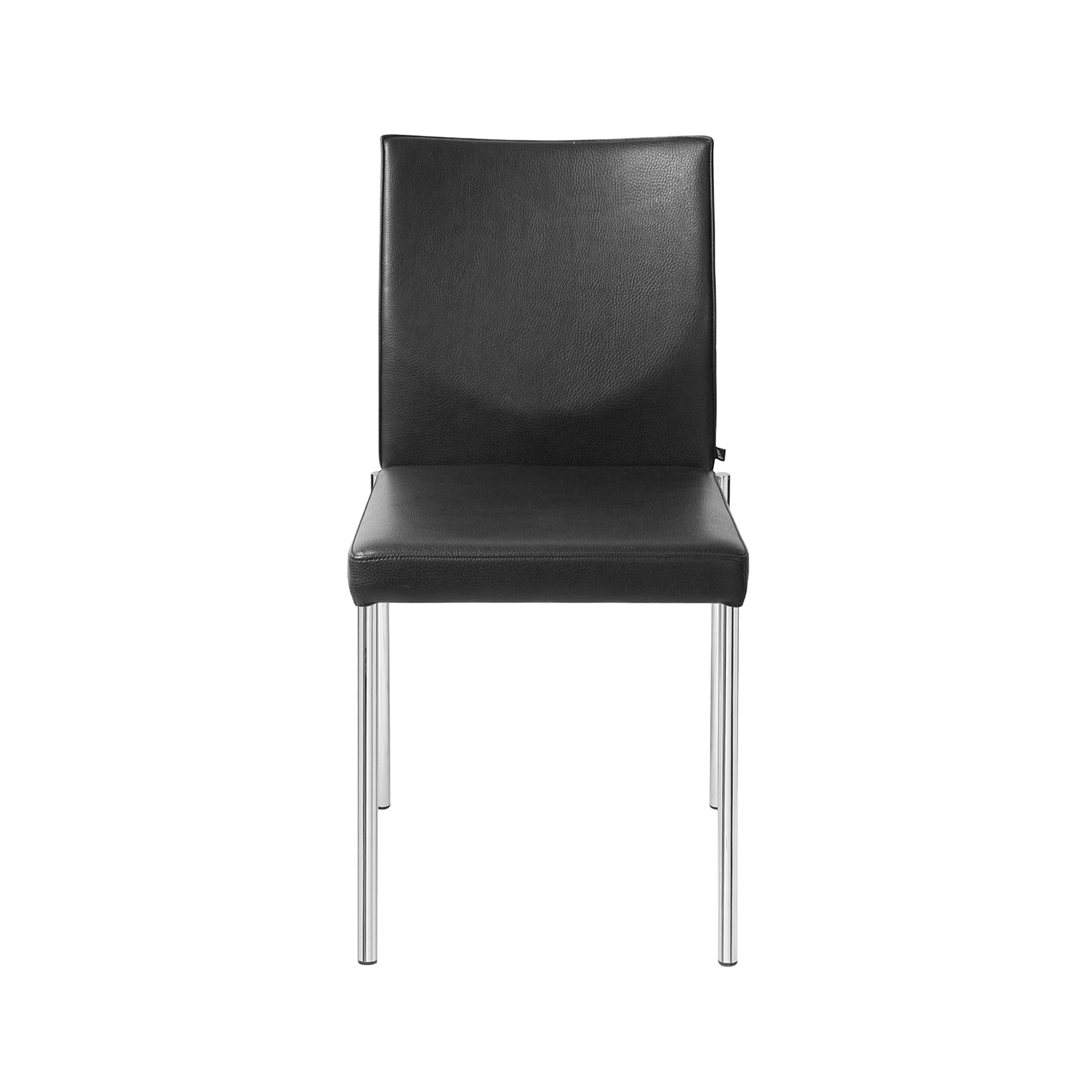 Glooh Chair Without Armrests in Black Leather by KFF