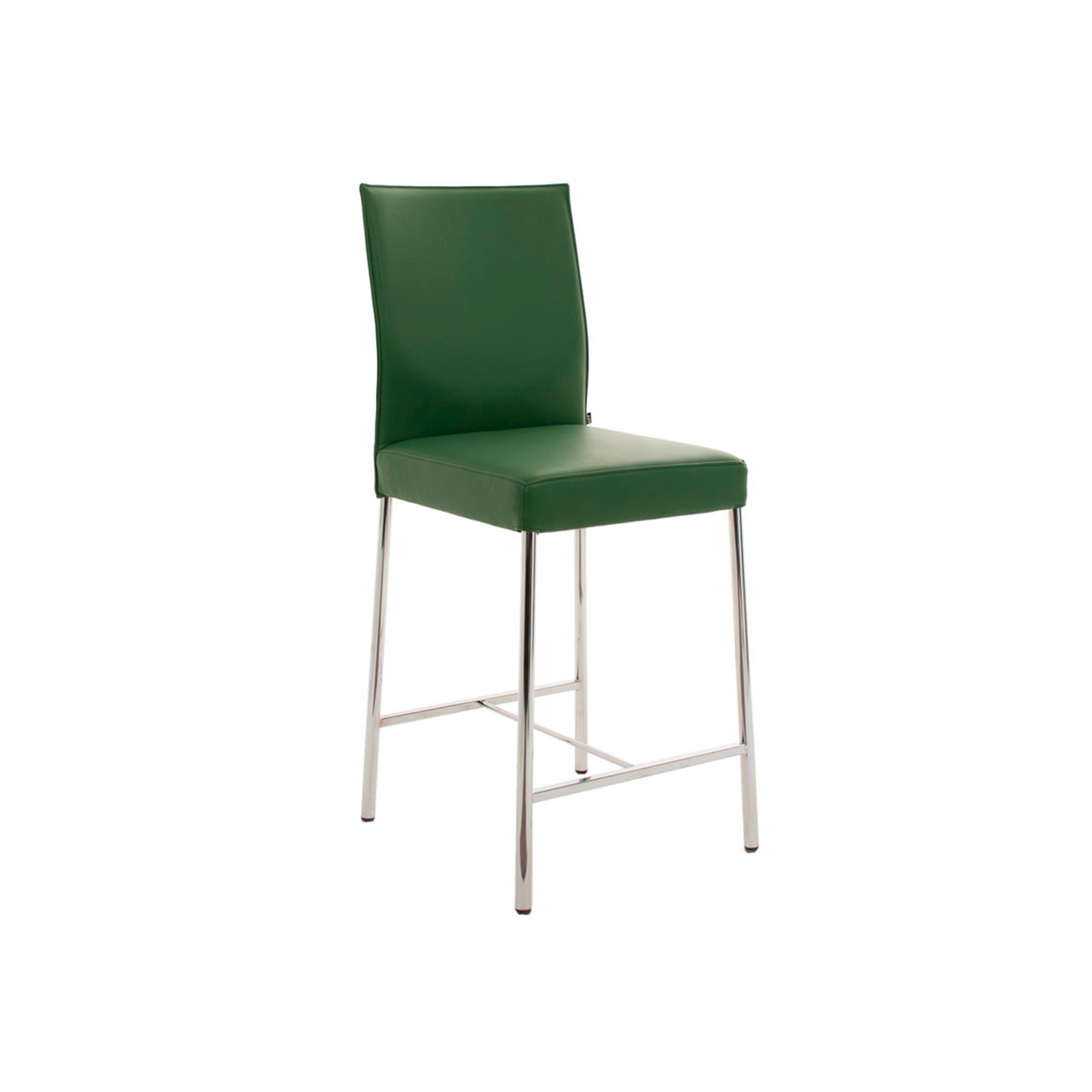 Glooh Counter Stool in Green Leather by KFF