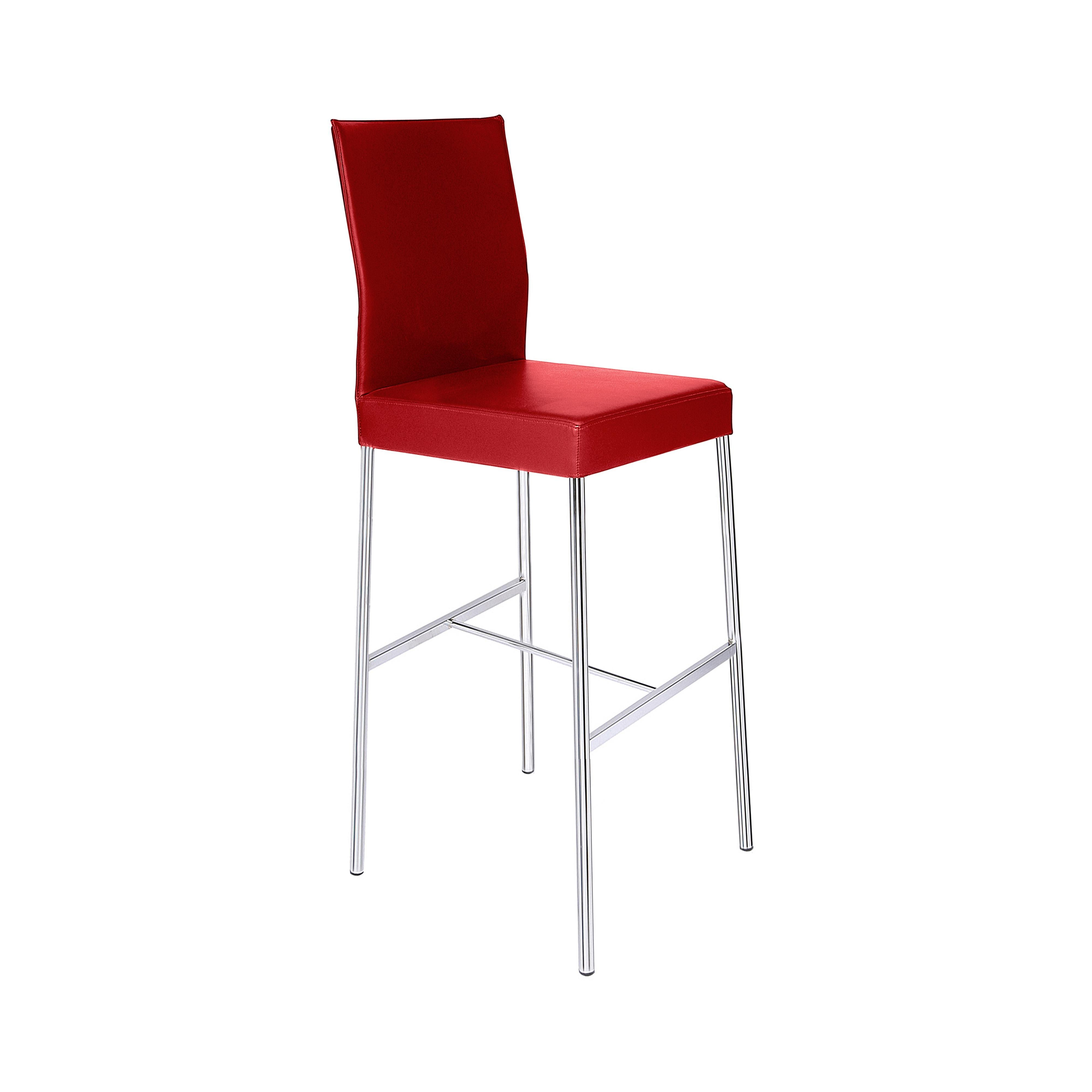 GLOOH Counter Stool in Red Leather by KFF