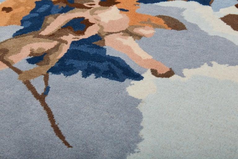 Indian Gloria d'Angeli Carpet, Handtufted in Wool, Alessandra Baldereschi For Sale