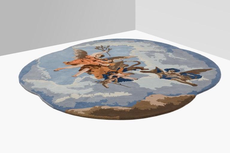 Gloria d'Angeli Carpet, Handtufted in Wool, Alessandra Baldereschi In New Condition For Sale In Milan, Lombardy