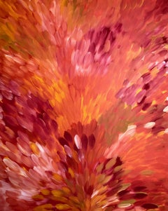 'Leaves -  Bush Medicine Dreaming'  Aboriginal Australian Art
