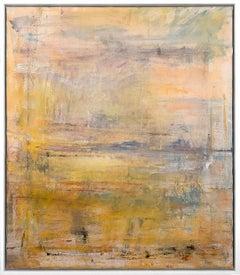 "Gloria Saez, ""A la orilla"" Abstract Oil Painting"