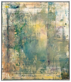 "Gloria Saez, ""Flores en el balcon"" Abstract Oil Painting"