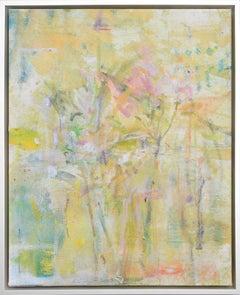 """Gloria Saez, """"Flores para Van Gogh"""" Abstract Oil Painting"""