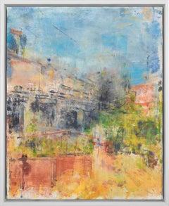 """Gloria Saez, """"La casa del poeta"""" Abstract Oil Painting"""