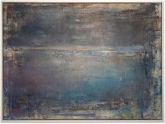 """Gloria Saez, """"La Luna Esta Saliendo"""" Oil on canvas seascape"""