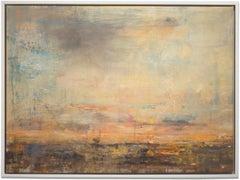 "Gloria Saez, ""Paisaje I - Landscape I"" Oil on canvas landscape"