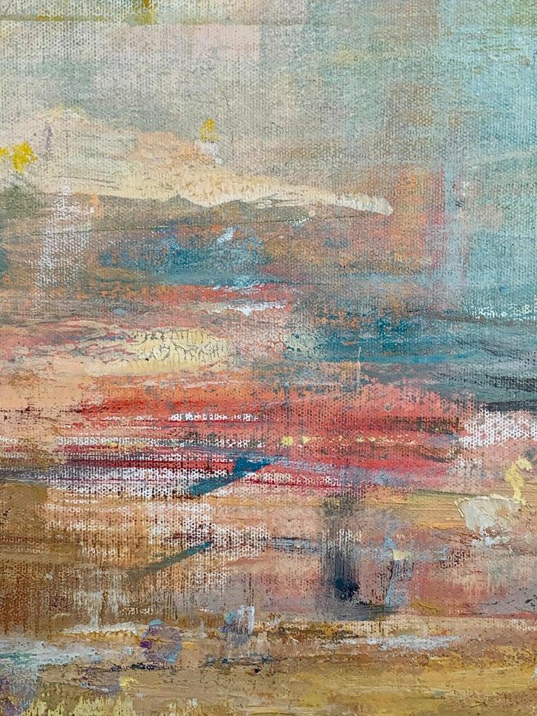 Gloria Saez, Paisaje, Oil on canvas, 2019 - Abstract Painting by Gloria Sáez