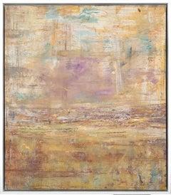 """Gloria Saez, """"Saudade"""" Abstract Oil Painting"""