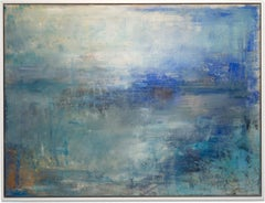 "Gloria Saez, ""Sea - Mar"", Oil on canvas seascape"