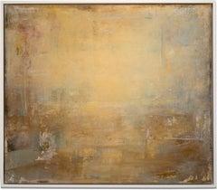 "Gloria Saez, ""Tras la Ventana - Behind the Window"" Abstract Oil Painting"