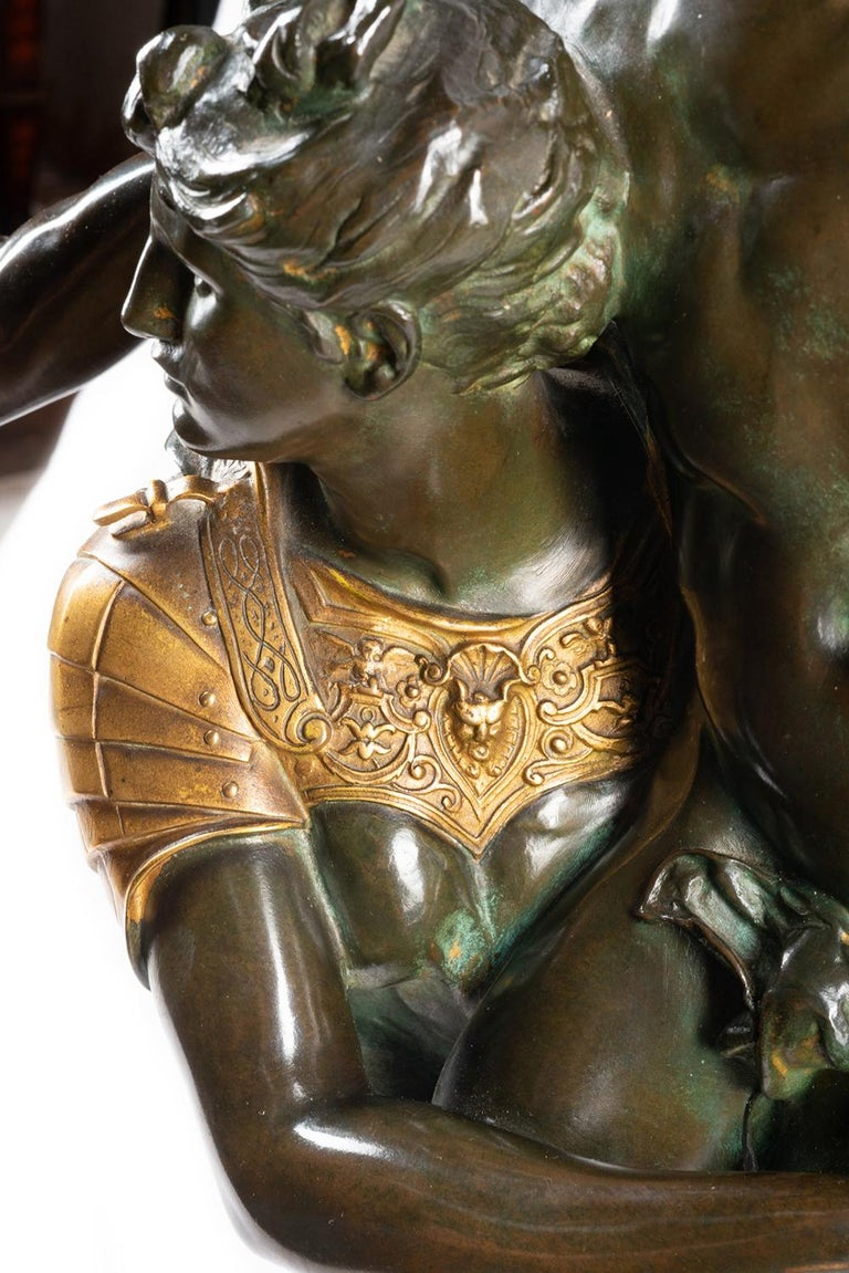 Bronze Gloria Victus, Signed A. Mercie, Barbedienne, 19th Century For Sale