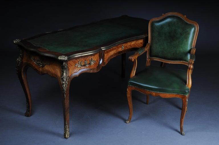 Glorious Bureau Plat or Desk in Louis XV For Sale 11