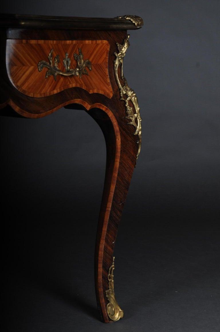 Glorious Bureau Plat or Desk in Louis XV For Sale 12