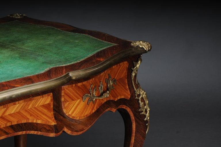 Glorious Bureau Plat or Desk in Louis XV For Sale 13