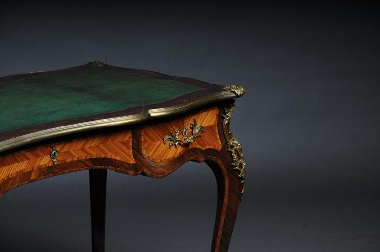 Veneer Glorious Bureau Plat or Desk in Louis XV For Sale