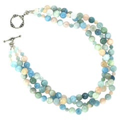 Glorious Three-Strand Multi-Color Beryl Necklace