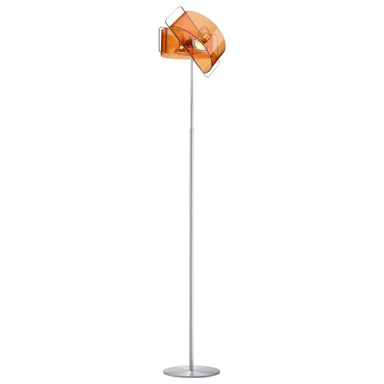 Gloss Floor Lamp in Orange by Pablo Designs For Sale