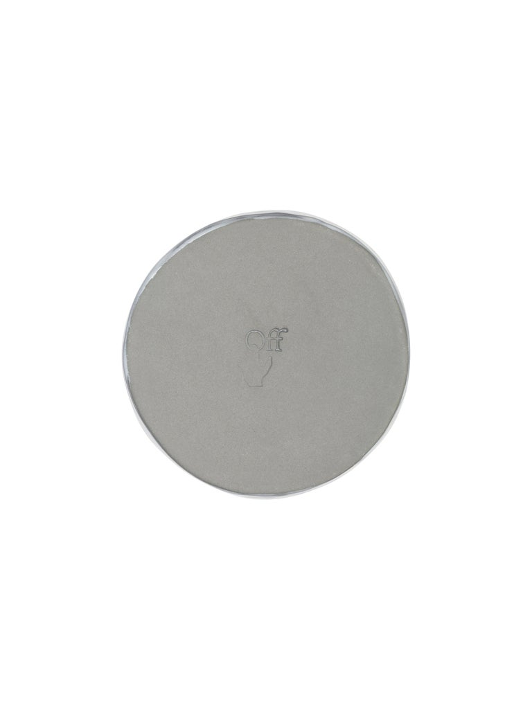 Off-White Glossy Ceramics Ashtray Taupe No Color In New Condition For Sale In Milan, IT