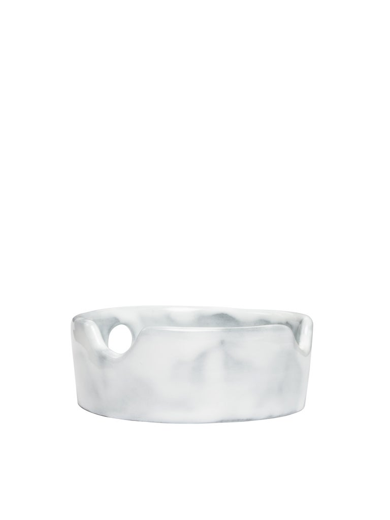 Off-White Glossy Ceramics Ashtray Taupe No Color For Sale