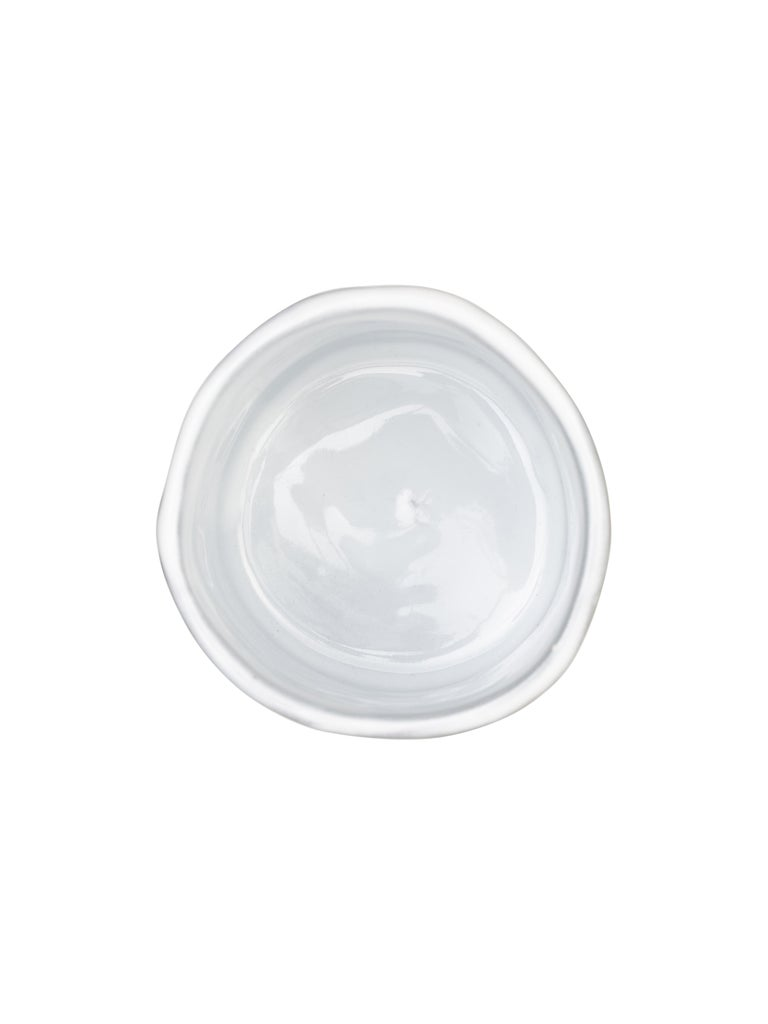 Italian Off-White Glossy Ceramics Glass Taupe  No Color For Sale