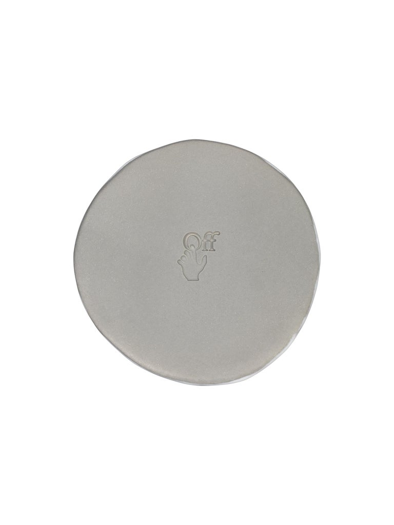 Off-White Glossy Ceramics Glass Taupe  No Color In New Condition For Sale In Milan, IT