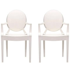 Glossy White Cartel Louis Ghost Chair by Philippe Stark
