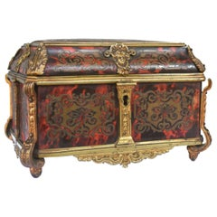 Gloves Box Gilded Bronze Tahan Napoleon III Boulle Marquetry